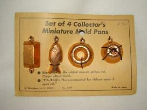 Vintage MINIATURE KITCHEN SET DOLL HOUSE Mold Pans SHACKMAN, GERMANY, Orig. Card