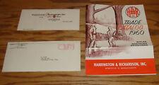Original 1960 Harrington & Richardson Firearms Trade Catalog Sales Brochure 60