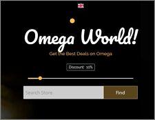 OMEGA WATCH Website|Upto $1,694.97 A SALE|FREE Domain|FREE Hosting|FREE Traffic