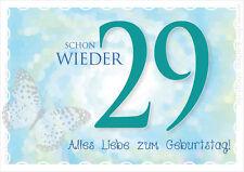 """A6 Postkarte Geburtstagskarte Karte Spruchkarte Geburtstag """"Schon wieder 29!"""""""