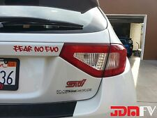 08-14 WRX STi Tail light Overlays w/ Reverse/Blinker Cutout REDOUT RED JDM Tint