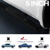 "5"" Black Steel Side Step Nerf Bars Running Boards 09-14 Ford F150 Super/Ext Cab"