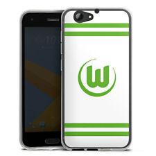 HTC One A9 s Silikon Hülle Case HandyHülle - Vfl Wolfsburg Banderole weiß