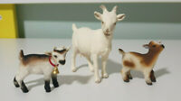 Schleich GOAT AND CALF Animal Figures X3!