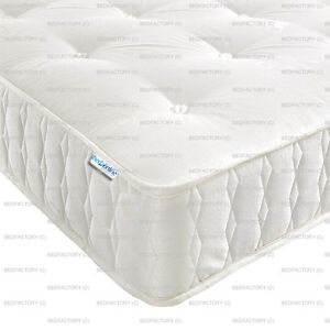 NEW POCKET SPRING 2500 SERIES DAMASK FABRIC QUILTED BORDER *CHEAPEST ON EBAY*