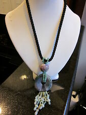 New Moss Agate And Jade  Necklace  SALE