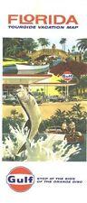 1974 Gulf Florida Vintage Road Map