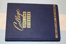 BOOK COLLEGE SPELLING STUDIES REIGNER ROWE 1942 World War II era