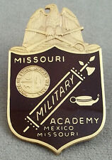 MMA - Missouri Military Academy Vintage Service Cap Badge / Screw Back Design