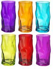 6 x Bormioli Rocco Sorgente Coloured Tumblers Glasses - 460ml - Multi Coloured
