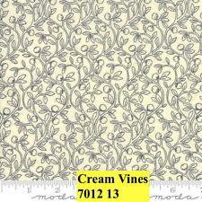 MODA HOME 100% cotton fabric by the yard - Fruitful Vines CREAM  Small Print