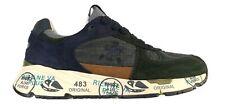 Scarpe da uomo Premiata sneaker tessuto tecnico e camoscio MASE 4152 blu e verde