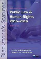 Blackstone's Statutes on Public Law & Human Rights 2015-2016-ExLibrary