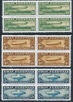 Artiststamp Replica Sc C13-5 Blocks USA Airmail Graf Zeppelin Set MNH
