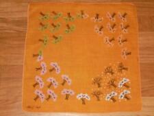 Vintage Tammis Keefe Seasons in the Trees Hanky Handkerchief Hankie