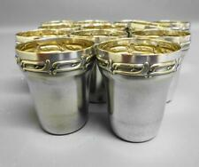 More details for rare antique wmf silver plated shot/schnapps cups  set of 12  c1913