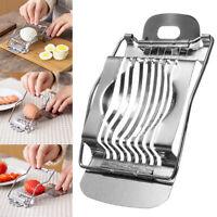 1 Pcs Cutter Egg Slicer Section Mushroom Tomato Stainless Steel Kitchen