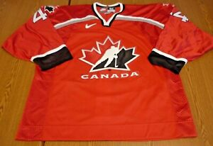 2006 Todd BERTUZZI -TEAM CANADA  Authentic NIKE Game Jersey - w/Fighting Strap