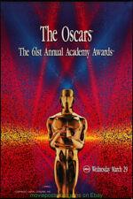 ACADEMY AWARDS 61st ANNUAL 1989 MOVIE POSTER Original SS 24x36 V.Fine