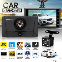 "4"" Dash Cam FHD 1080P Front & Rear 3 Lens Car Dashboard Camera 170° DVR Recorder"