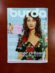 Burda Moden Style Magazine English Supplement Unused Pattern Sheets May 2004