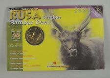 Malaysia 25 Sen Coin 2003 UNC, Endangered Species - Rusa Sambar Deer