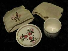 VINTAGE CHINA Egg Cup Stand & Linen Cover CROWN DUCAL AG Richardson 1916-1925