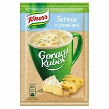Knorr Goracy Gorący Kubek Zupa Serowa x 5 Hot Mug Cheese Soup with croutons