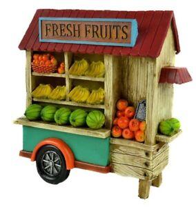 LED Fresh Fruit Cart MI 56165 Miniature Fairy Garden