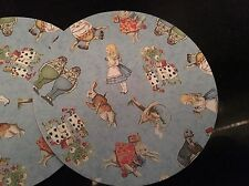 Alice In Wonderland Print Handmade Wooden Coaster Vintage Gift Shabby Chic Party