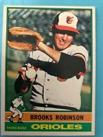 1976 Topps Baseball Card #95 Brooks Robinson Baltimore Orioles