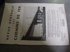 µ? Revue RGCF Revue Generale Chemins de Fer 12/1954 Mistral Pont Saone à Macon