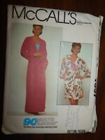 Cover up Robe McCalls 7537 Small S Cut Pattern Sewing Women's 90 fashion Misses