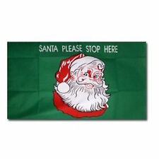 Santa Stop Here Flag 3'x2' Xmas Celebration Christmas Decoration