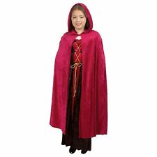 "CHILD HOODED CLOAK KING QUEEN RENAISSANCE MEDIEVAL COSTUME CAPE ROBE 40"" W/ HOOD"