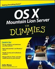 OS X Mountain Lion Server For Dummies, Rizzo, John, Good Condition, Book