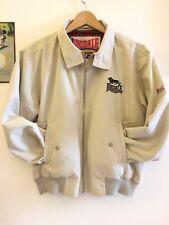 Giubbotto Harrington Lonsdale Size M- Jacket Vintage Ultras Skin Beige Casual