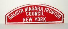 BOY SCOUT   GREATER NIAGARA FRONTIER  /  COUNCIL  /  NEW YORK    RWS