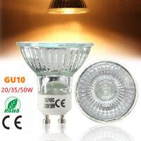 GU10 Bright 20W 35W 50W Bombilla Blanco Cálido Halogeno Hogar Lámpara Luz