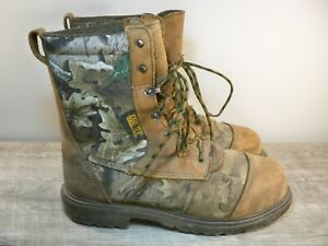Red Wing Camouflage Mens Brown Leather Work Hunting Steel Toe Boots Size Size 10