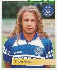 216 PETER KOZLE GERMANY MSV DUISBURG STICKER FUSSBALL 1995 PANINI