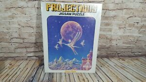 """VTG Projections Gilbert Williams Art Puzzle """"Moon Flight"""" 70s Space Mystical 551"""