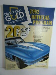 1992 Bloomington Gold Official Program June 26-28 1992 Bloomington Illinois 20YR