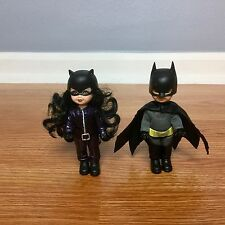 Barbe KELLY & TOMMY as BATMAN & CATWOMAN Dolls Gift Set Lot VGUC 2008 Mattel