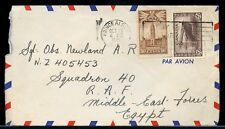 30 cent AIR mail to EGYPT 1942 War issue slogan  cover Canada