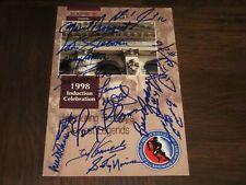 1998 Hockey Hof Induction Program Signed Autographed By 16-Deceased-All Hof-Rare