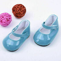 BIN Fancy Blue Green Shoes For 18 Inch Doll Kid Toys Cute Gifts Set Z6L5 I9 S2A1