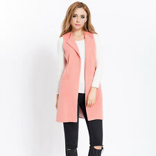 Women Body Warmer Vest Waistcoat Gilet Sleeveless Jacket Outwear Faux Woolen New