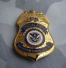 US SPECIAL AGENT TRANSPORTATION SECURITY PROPS COLLECTION BADGE Cosplay Badge