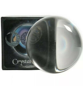 CRYSTAL BALL SPHERE 11cm NEMESIS NOW Wicca Witch Pagan Luna UK SELLER